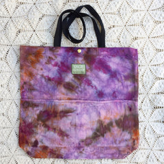 Orgato Shibori Tie Dye 3-Pocket Canvas Tote 1084 by Sage Luxury