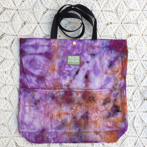 Picture of Orgato Shibori Tie Dye 3-Pocket Canvas Tote 1085 by Sage Luxury