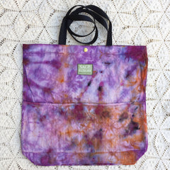 Orgato Shibori Tie Dye 3-Pocket Canvas Tote 1085 by Sage Luxury