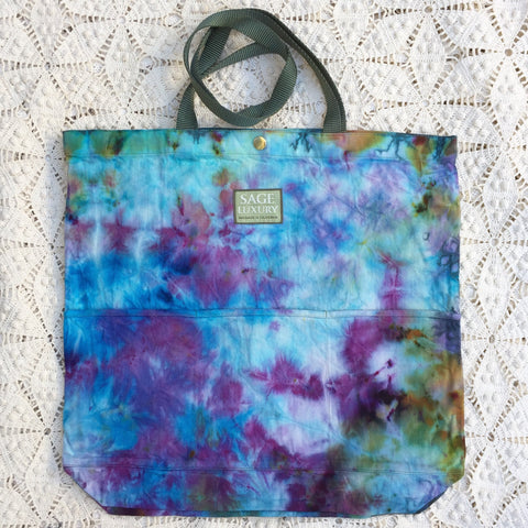 Picture of Orgato Shibori Tie Dye 3-Pocket Canvas Tote 1064 by Sage Luxury