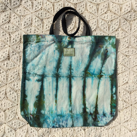 Picture of Orgato Shibori Tie Dye 3-Pocket Canvas Tote 1021 by Sage Luxury