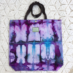 Orgato Shibori Tie Dye 3-Pocket Canvas Tote 1043 by Sage Luxury