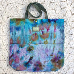 Orgato Shibori Tie Dye 3-Pocket Canvas Tote 1060 by Sage Luxury