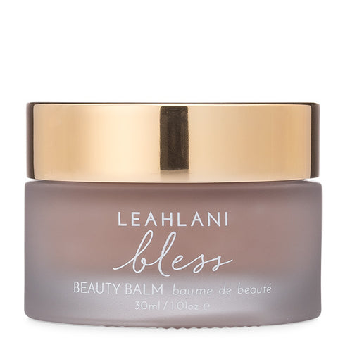 Leahlani Skincare BLESS Beauty Balm, 30ml - nourishing moisture treatment for face, eyes, lips + cleansing balm