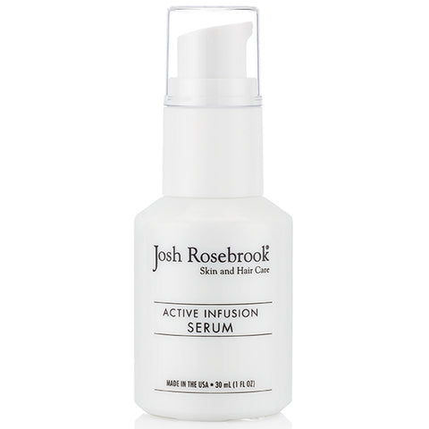 Josh Rosebrook Active Infusion Serum, 30ml - high-performance herb-infused active oil serum for all skin types & conditions including acne, rosacea, psoriasis & sensitive