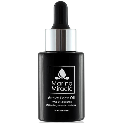Marina Miracle Active Face Oil For Men, 28ml - soothes after shaving dry, sensitive or combined skin