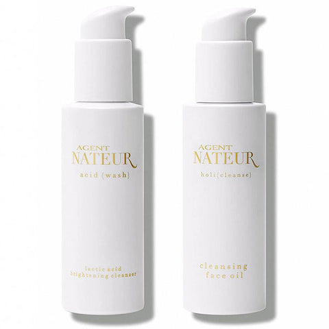 Agent Nateur The Cleanser Duo,  2 x 120ml - two-step cleansing for healthy, ageless, radiant skin