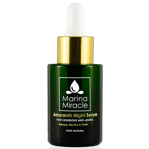 Marina Miracle  Amaranth Night Serum, 28ml - renew, revive & tone - luxurious anti-aging night serum - alice&white sthlm