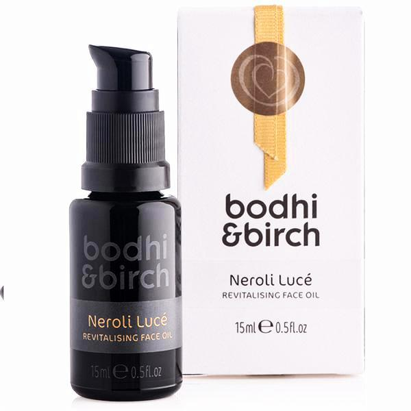 Bodhi & Birch Neroli Lucé Revitalising Face Oil, 15ml - Mediterranean orange blossom w/powerful fatty acids & vitamins for toned, radiant & rebalanced skin