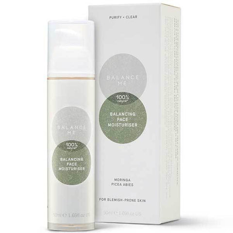 Balance Me Balancing Face Moisturiser, 50ml - a light cream, reduces breakouts & acne