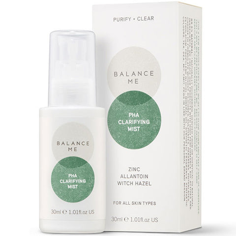 Balance Me PHA Clarifying Mist, 30ml - PURIFY + CLEAR - pores & blemishes without irritation