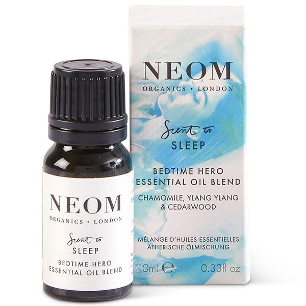 Neom Organics BEDTIME HERO Essential Oil Blend, 10ml - scent to SLEEP - use w/ Wellbeing Pod or bath & sauna