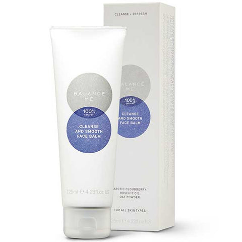 Balance Me Cleanse & Smooth Face Balm, 125ml - 100% natural oil-based hot cloth cleansing balm