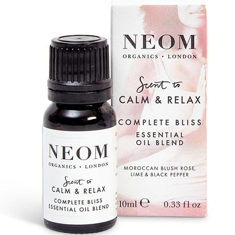 Neom Organics COMPLETE BLISS Essential Oil Blend, 10ml - scent to CALM & RELAX - use w/ Wellbeing Pod or bath & sauna