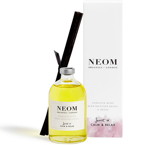 Neom Organics COMPLETE BLISS Reed Diffuser Refill, 100ml - Scent To Calm & Relax - 100% natural