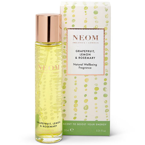 Neom Organics GRAPEFRUIT, LEMON & ROSEMARY Natural Wellbeing Fragrance, 30ml - Scent To Boost Your Energy - 100% natural eau de parfum