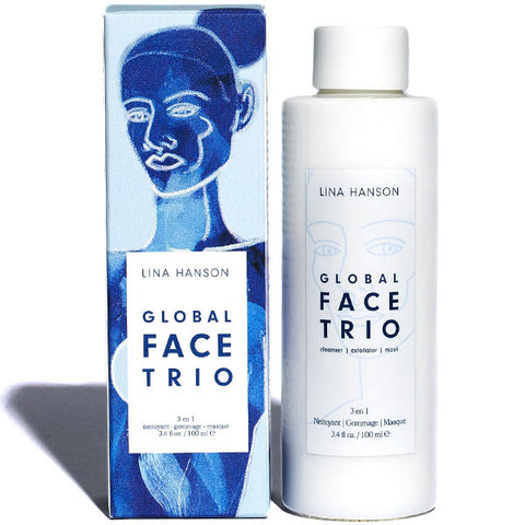 Lina Hanson GLOBAL FACE TRIO, 100ml - brighening cleanser + exfoliator + mask - rich in Vitamin C+AHA