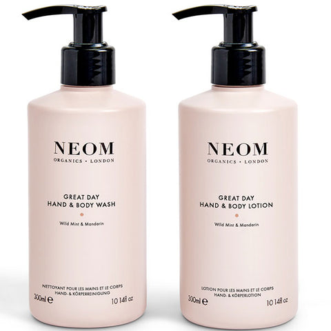 Neom Organics Great Day Hand & Body Wash & Lotion - Alice&white Sthlm