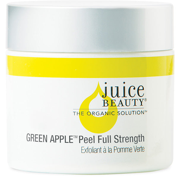 Juice Beauty GREEN APPLE Peel Full Strength, 60ml - potent alpha & beta hydroxy fruit & glycolic acid peel, SPA-grade exfoliation, for brighter complexion, reducing fine lines & wrinkles, dark spots & discoloration, blurs fine lines w/Vitamin A