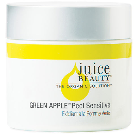Juice Beauty GREEN APPLE Peel Sensitive, 60ml - potent AHA fruit acid peel, SPA-grade exfoliation, for brighter complexion, reducing fine lines & wrinkles, dark spots & discoloration, blurs fine lines w/Vitamin A+C