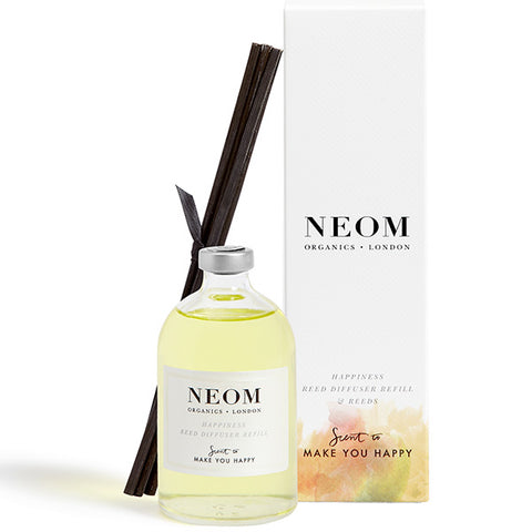 Neom Organics Happiness Reed Diffuser Refill, 100ml - Neroli, Mimosa & Lemon - Scent To Make You Happy™ - 100% natural home & wellbeing fragrance
