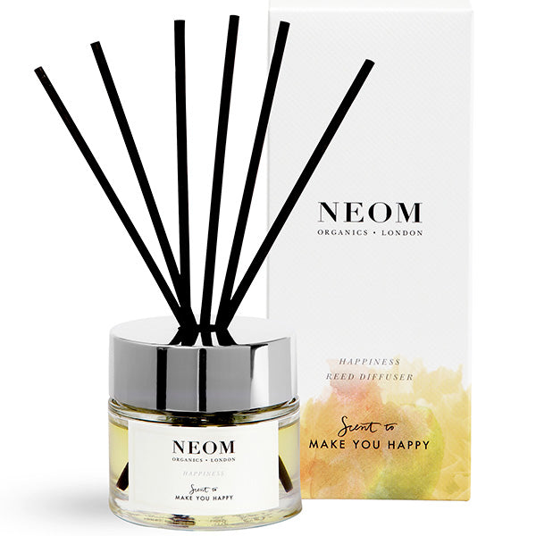 Neom Organics Happiness Reed Diffuser, 100ml - Neroli, Mimosa & Lemon - Scent To Make You Happy™ - 100% natural home & wellbeing fragrance