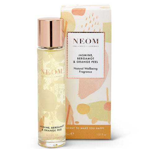 Neom Organics JASMINE, BERGAMOT & ORANGE PEEL Natural Wellbeing Fragrance, 30ml - Scent To Make You Happy - 100% natural eau de parfum