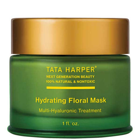 Tata Harper HYDRATING FLORAL MASK, 30ml - multi-Hyaluronic Acid to re-charge dry skin + redness reducing - alice&white sthlm