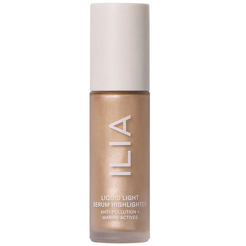 ILIA Liquid Light Serum Highlighter - NOVA, 15ml - soft gold - a dewy glow with blue light UV protection