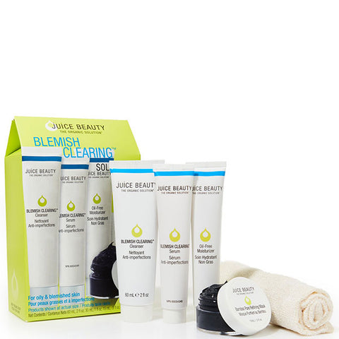 Juice Beauty BLEMISH CLEARING Solutions Kit  - organic solution for clear, healthy skin with x 4 simple steps