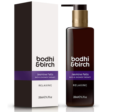Bodhi & Birch Jasmine Falls Relaxing Bath & Shower Therapy, 200ml - Natural, vegan & SLS free