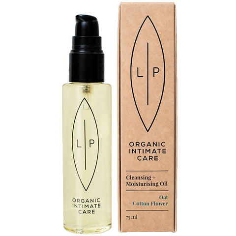 LIP Organic Intimate Care CLEANSING + MOISTURISING OIL Coconut + Vanilla, 75ml - 100% natural, for most sensitive skin, essential oil free - alice&white sthlm