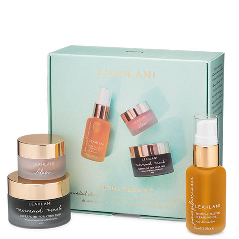 Leahlani Skincare ALOHA GLOW KIT, 3 x 30-15ml - luxurious 3-step skincare ritual for everyday radiance