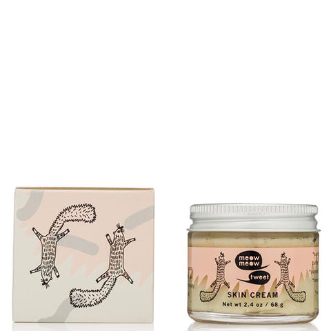Meow Meow Tweet SKIN CREAM, 68gr - rich cream - balm, vegan, to repair dry, itchy, eczema, psoriasis, rosacea on face & body skin, reduces scars & lines