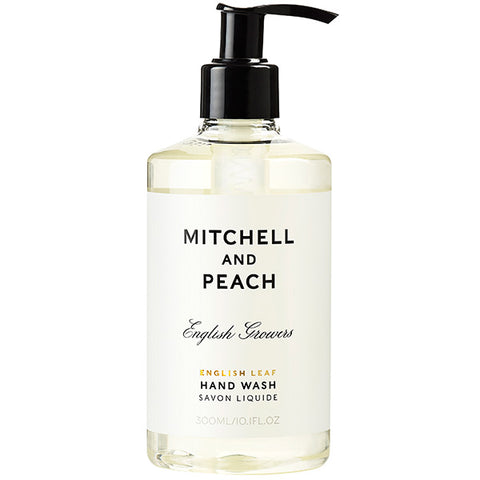 Mitchell and Peach English Leaf Hand Wash, 300ml - green floral natural scent