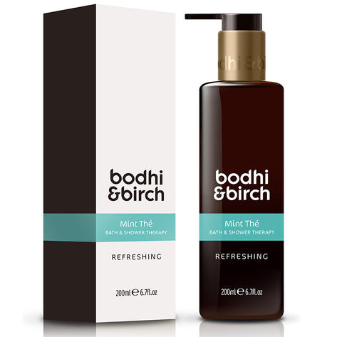 Bodhi & Birch Mint Thé Refreshing Bath & Shower Therapy, 200ml - Natural, vegan & SLS free, great after sport & fitness