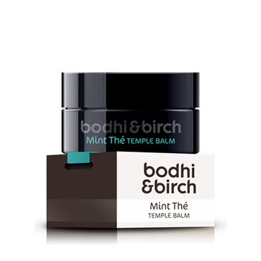 Bodhi & Birch Mint Thé Temple Balm, 15gr - Reliefs headaches, travel sickness, insect bites, muscular pains