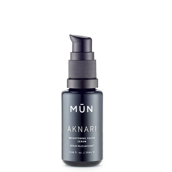 MUN Aknari Brightening Youth Serum, 20ml - face/neck/eye oil serum w/powerful anti-aging Prickly Pear Seed Oil to stimulate collagen production, smooth wrinkles & lines, repair sun damage & lighten dark spots & eye circles
