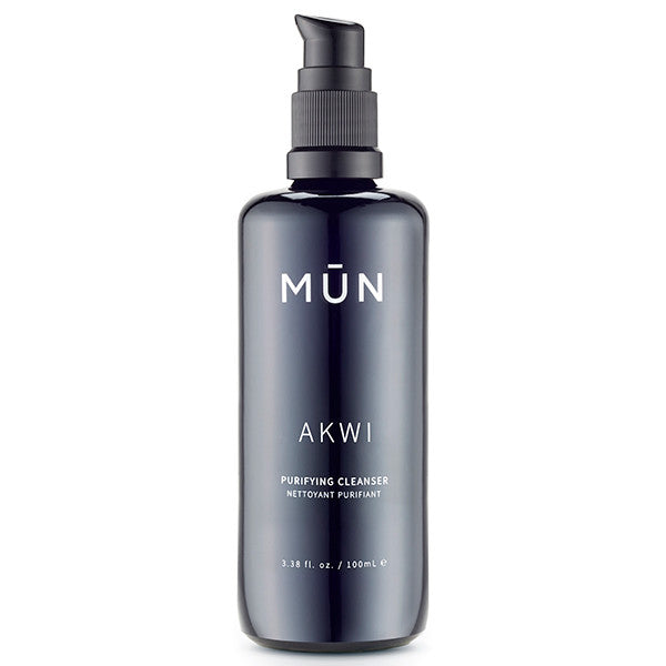 MUN Akwi Purifying Cleanser, 100ml - gentle pH-balanced face cleanser + makeup remover incl. waterproof