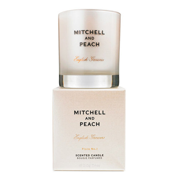 Mitchell and Peach Flora No.1 Scented Candle, 40 hours burn time, 100% natural floral sweet lavender scent