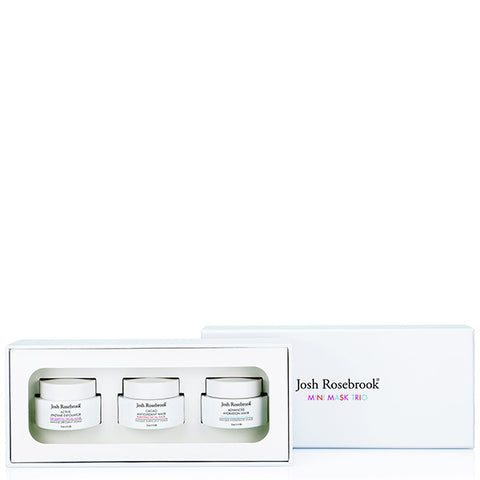 Josh Rosebrook MINI MASK TRIO, 3 x 15ml -  the perfect set of masks to keep your skin glowing