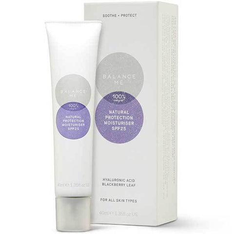 Balance Me Natural Protection Moisturiser SPF25, 40ml - protects against UVA & UVB rays