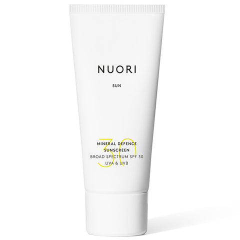 NUORI SUN Mineral Defence Facial Cream SPF30, 50ml - new generation natural transparent, non-nano zinc oxide, UVA & UVB protection