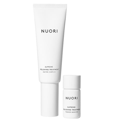 NUORI Supreme Polishing Treatment, 45ml+8gr - sensitive skin exfoliating enzyme treatment & mask for radiant glow
