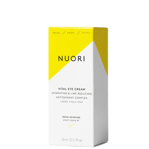 NUORI Vital Eye Cream, 15ml - hydrating & line-reducing antioxidant complex w/Hyaluronic acid, fragrance-free