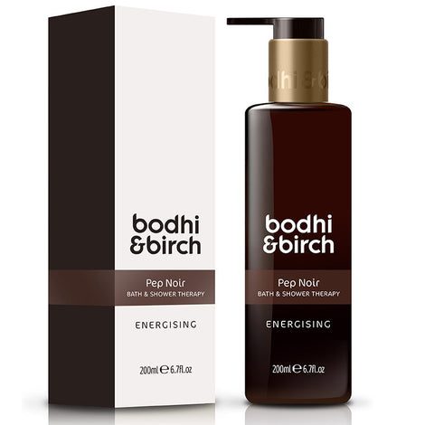 Bodhi & Birch Pep Noir Energising Bath & Shower Therapy, 200ml - unisex, SLS free, great for dry & sensitive skin, pepper, bergamot & cinnamon