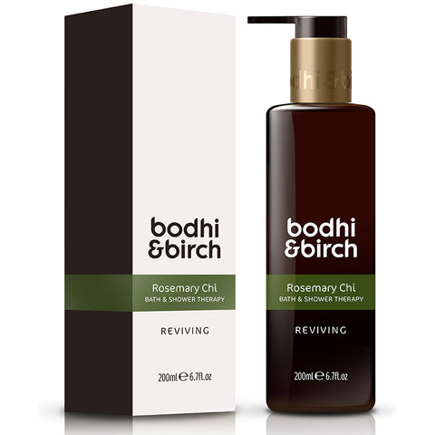 Bodhi & Birch Rosemary Chi Reviving Bath & Shower Therapy, 200ml - Natural, vegan & SLS free