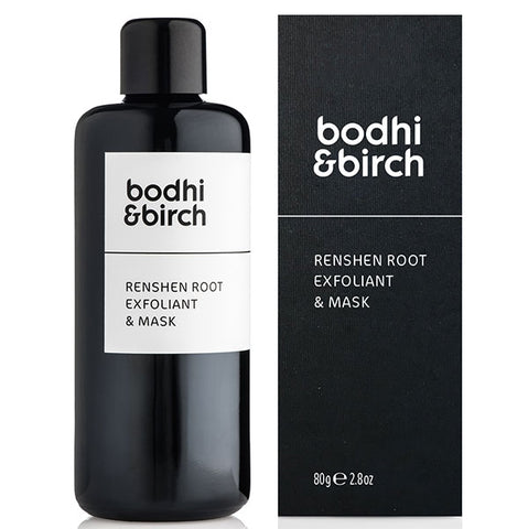 Bodhi & Birch Renshen Root Exfoliant & Mask, 100ml / 80 gr - essential oils free, boosts collagen & skin regeneration