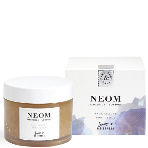 Neom Organics REAL LUXURY Body Scrub, 332gr - Scent To De-Stress - organic sugar base body scrub for glowing & soft skin