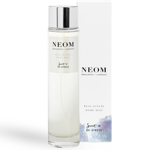 Neom Organics Real Luxury Home Mist, 100ml - Lavender, Jasmine, Brazilian Rosewood - Scent To De-Stress™ - 100% natural home & wellbeing fragrance